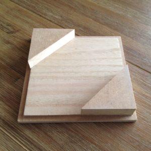Deckel mit Holzdreiecken
