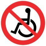 Schild Rollstuhlverbot