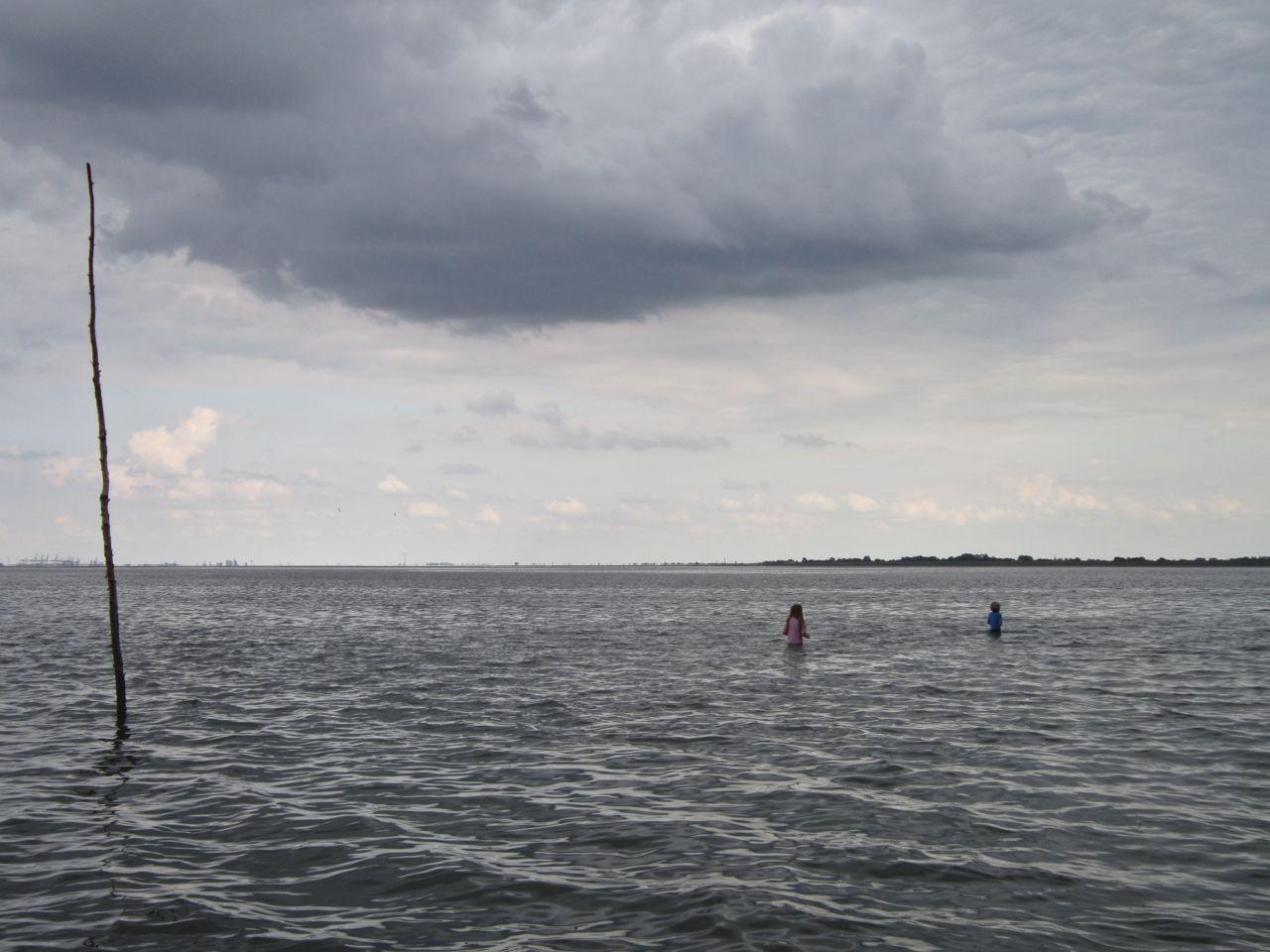 Kinder im Wattenmeer