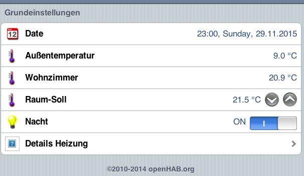 OpenHAB-Screenshot